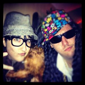 Senia Borden as DJ SenSen and Dan Levy as 2 Chainz on Holloween (Photo by Garrett Poortinga)