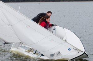 Dan and his teammate sailing. Photo courtesy of Dan Levy.