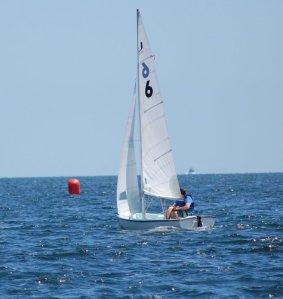 Dan sailing solo. Photo courtesy of Dan Levy.