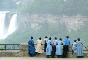 Amish admiring Niagara