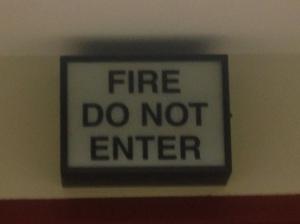 Sign over The Great Doorway