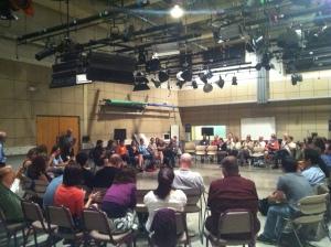 The gathering in Studio 5