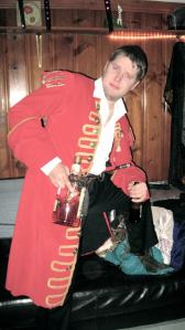 Dustin as Captain Morgan (Photo Courtesy of Michelle Funk).