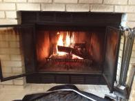 """First fire of the season""- Submitted by Lindsay Ems"