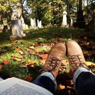 """Studying in the Grave Yard""- Submitted by Michelle Funk"