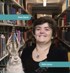 Moira and the jackalope in an official IU photo.