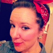 Niki as feminist icon Rosie  the Riveter on Halloween (photo courtesy of Niki Fritz).