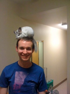 Anthony's pet Chinchilla named Penny. RIP.