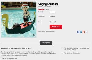 singing gondolier