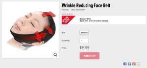 Wrinkle reducing face belt!