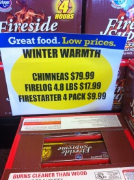 """Can't forget your chimneas to keep you warm this winter...""- Submitted by Mona Malacane"