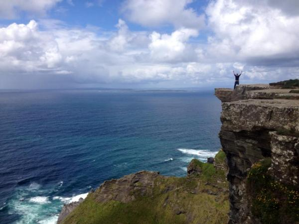 Dustin is that tiny littl figure on top of the Cliffs of Moher