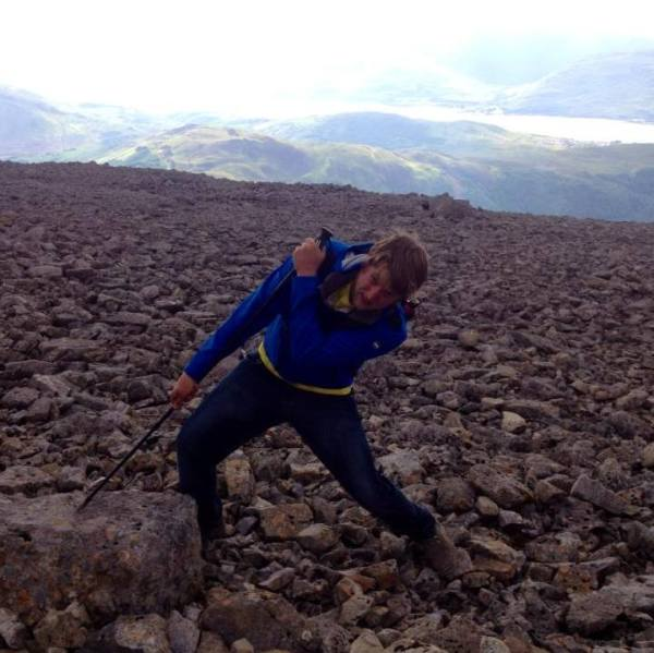 Dustin on his grueling 11 hour hike up Ben Nevis