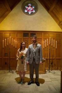 Josh and Alicia in Beck Chapel