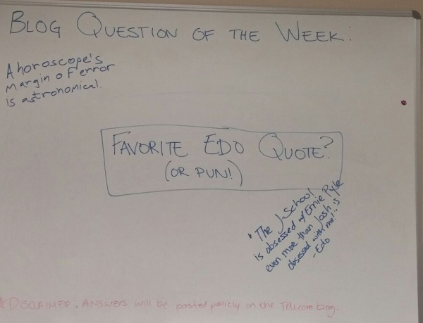 question of the week edo