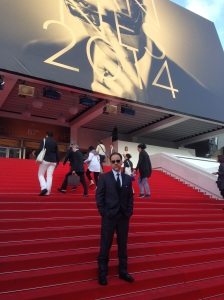 Norbert on the red carpet at the Cannes Film Festival