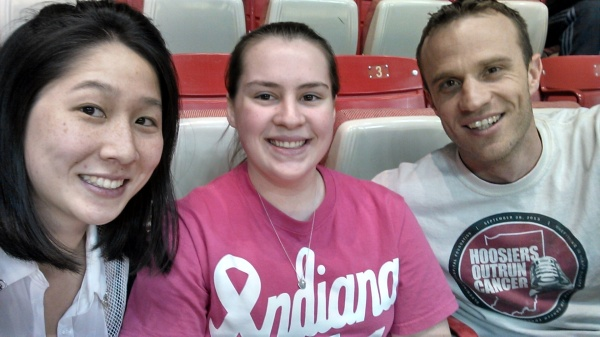 Co-Coach Jessica Tang, Team Captain Shelby and Co-Coach Paul Wright