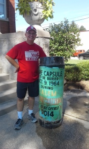 Reed with time capsule
