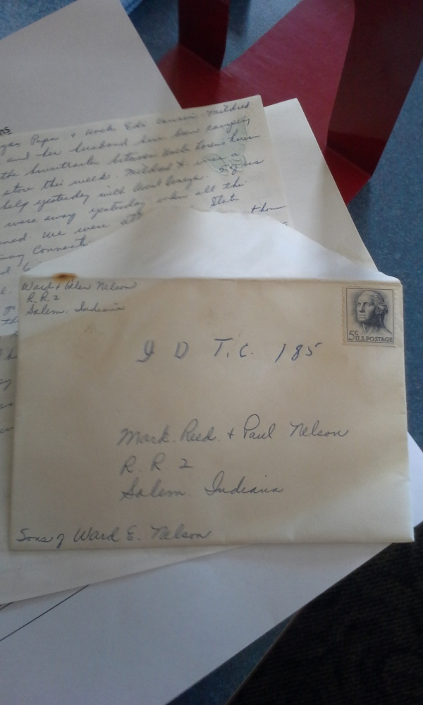 The letter addressed to Reed and his brothers, Mark and Paul.