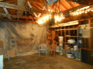 The garage before the dance party started