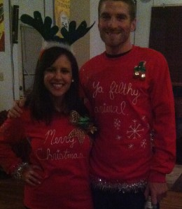 Homemade tacky sweaters