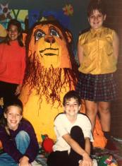 "Nicky Lewis: ""I was involved in the creation of a life size replica of Simba from The Lion King in 5th grade. Not my best work."""