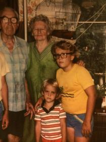 """Sean Connolly: """"I would say I was in the third grade when the first dreaded coke bottle glasses came. (They didn't have the thin glass I those days.) That went well with the early pimples and braces in sixth grade. Whenever a girl spoke to me she wanted me to put in a good word with my brother."""""""