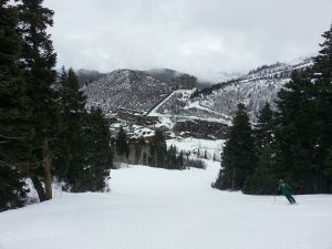 The slopes in Utah, from Bryant's Facebook.